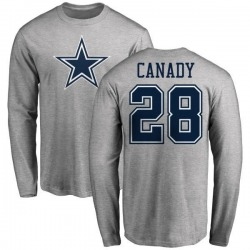 Men's Maurice Canady Dallas Cowboys Name & Number Logo Long Sleeve T-Shirt - Ash